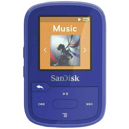 Sandisk Sdmx28-016g-a46b Clip Sport Plus Mp3 Player With Bluetooth (blue)