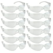 Safety Glasses, One Size, Clear Lens (Pack of 12)