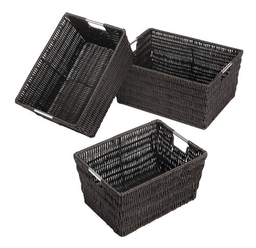 Whitmor 6500-1959-ESPR Rattique Baskets Set Of 3 Espr