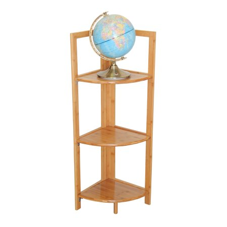 - 3 Tier Bamboo Corner Shelf