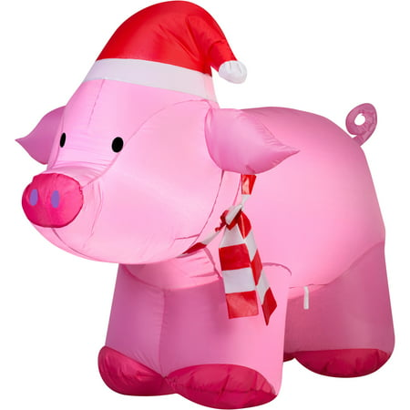 Gemmy Airblown Inflatable 3' Pig Christmas Decoration](Spongebob Inflatable Christmas)