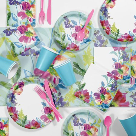 Painterly Floral Party Supplies Kit