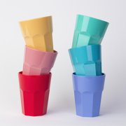 Cupture The Small Cup Plastic Tumblers, 12 oz, 6-Pack (Assorted Colors)