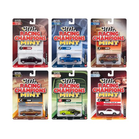 2018 Mint Release 3, Set A of 6 Cars Limited Edition to 2,000 pieces Worldwide 1/64 Diecast Models by Racing Champions (Danbury Mint Diecast Cars)