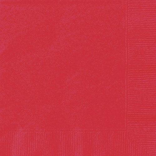 Ravishing Red Paper Napkins, 6.5in, 24ct