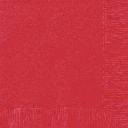 Ravishing Red Paper Napkins, 6.5in, 24ct (Gingham Paper Napkins)