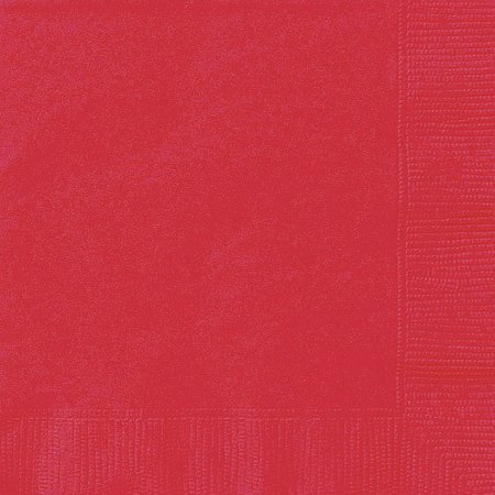 Personalized Paper Napkins (Ravishing Red Paper Napkins, 6.5in,)