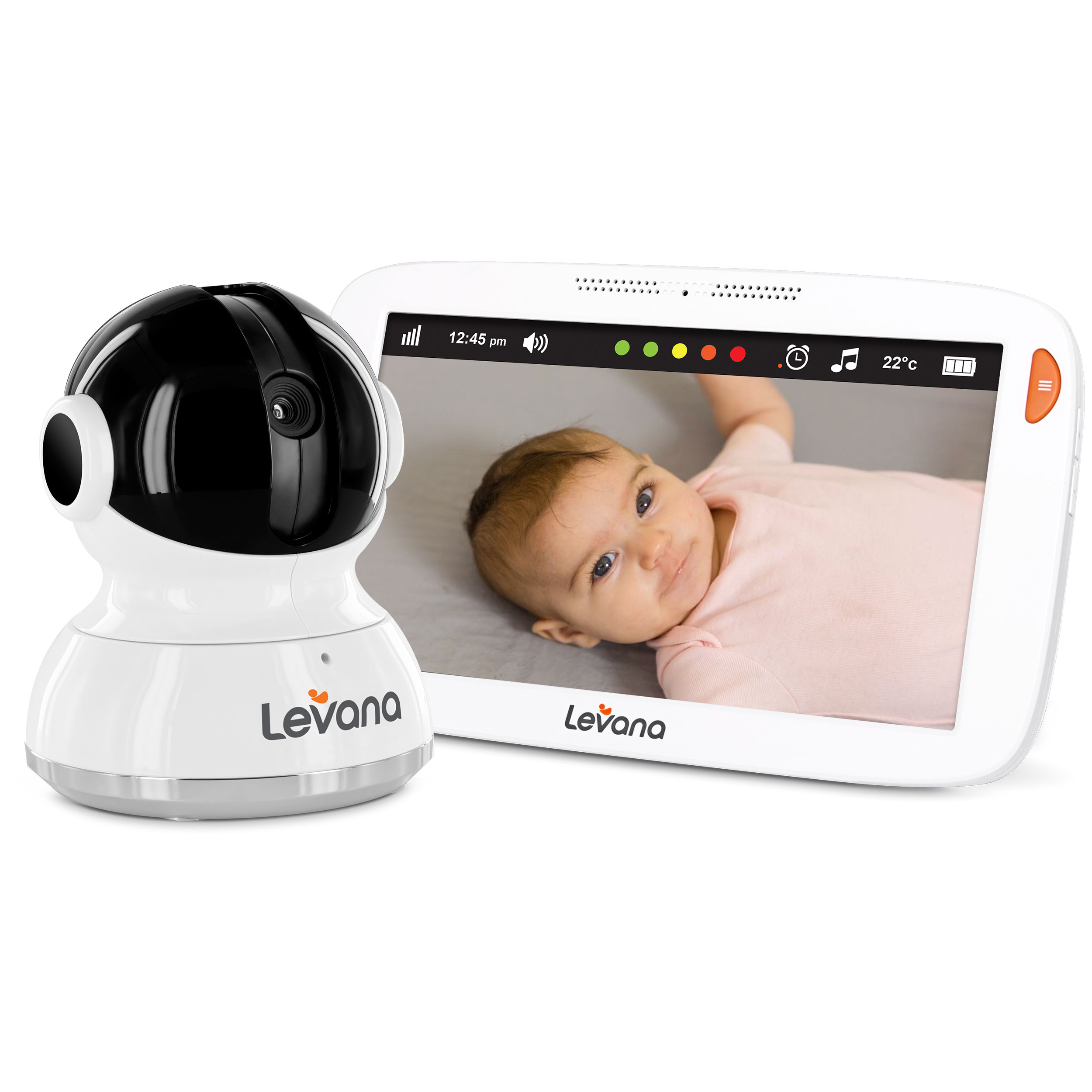 "Levana Aria, Video Baby Monitor, 7""Touchscreen, Pan/Tilt/Zoom"