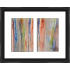 "Colorful Lines 20"" x 16"" Wall Art"