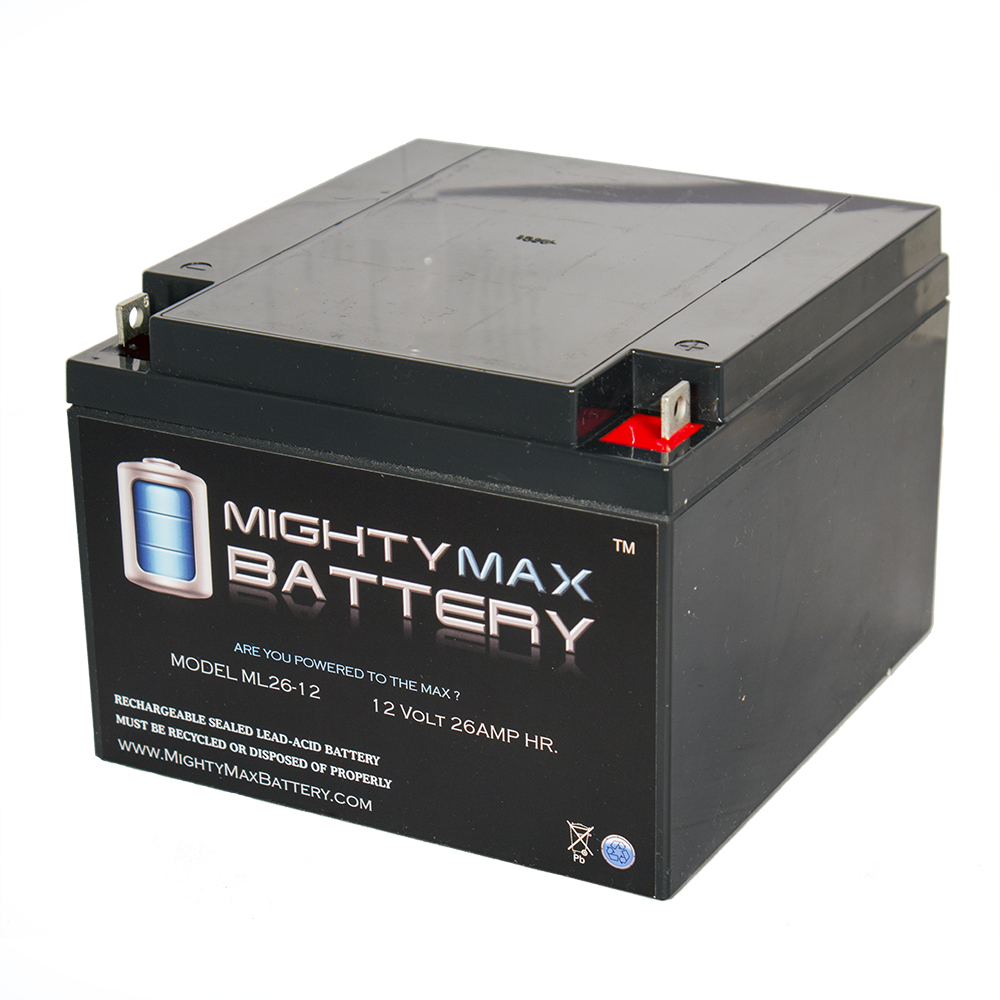 ML26-12 12V 26AH SEALED 12 VOLT DEEP - CYCLE RECHARGEABLE BATTERY