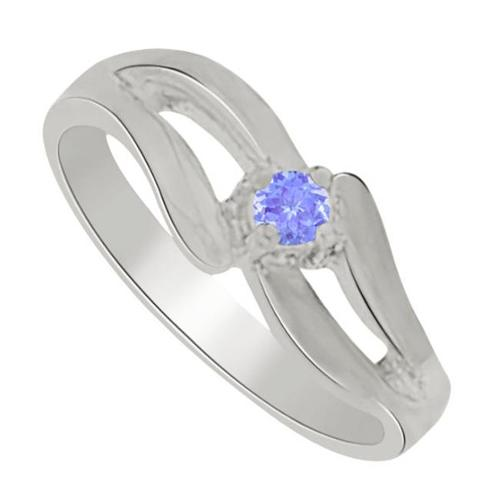 Fine Jewelry Vault UBUNR81960W14TZ Amazing Gift Tanzanite Mother Ring in 14K White Gold