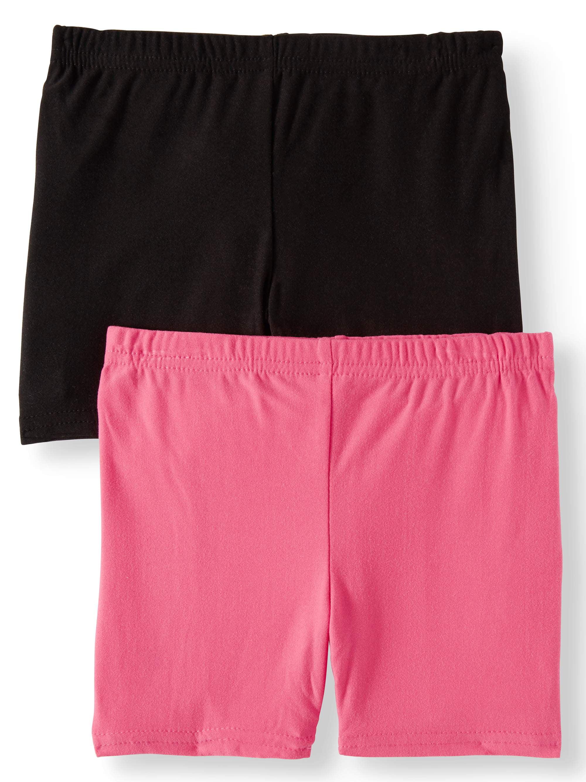 aebda8cb ONE STEP UP - Solid Bike Shorts, 2-Pack (Little Girls & Big Girls) -  Walmart.com