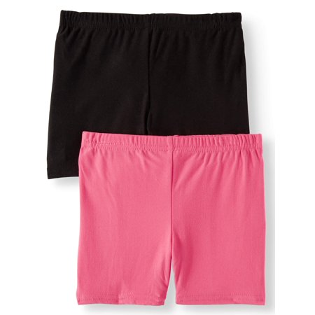 One Step Up Solid Bike Shorts, 2-Pack (Little Girls & Big Girls) Button Up Woven Shorts