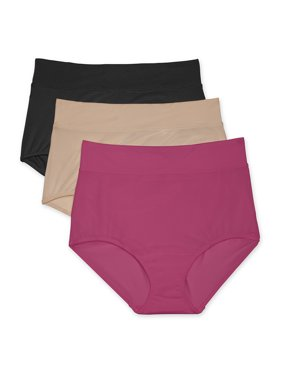 Blissful Benefits by Warner's Women's No Muffin Top Brief 3-pack