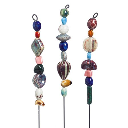- Evergreen Enterprises Ceramic Bead Garden Plant Stakes