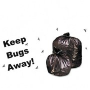 Stor-A-File P3345K20 Insect-Repellent Trash Bags w/Pest-Guard  35gal  2mil  33 x 45  BLK  80/Carton