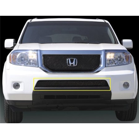 - TRex Grilles 46705 Small Mesh Steel Black Finish Sport Grille Overlay for Honda Pilot
