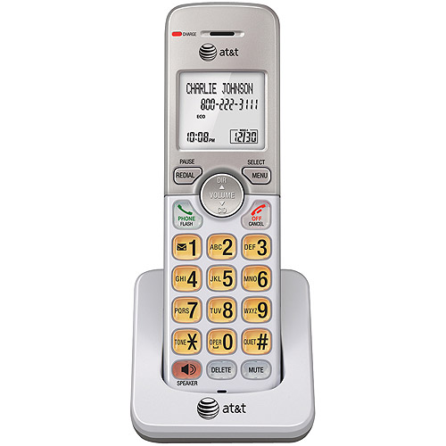 AT&T EL50003 DECT 6.0 Accessory Handset for EL52103, EL52203, EL52253,EL52303, EL52353, EL52403,EL52503, Silver