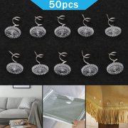 TSV 50pcs Clear Twist Pins Heads Twisty Pin with Plastic Contain Box, Anti-rust Protect Twist Pins for Upholstery, Slipcovers Chair Couch Furniture Car Slip Covers Bed Skirt Fixed Blankets Sofa
