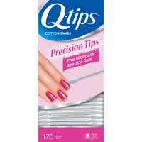 Q-tips Cotton Swabs For Hygiene and Beauty Care Q Tips Precision Cotton Tips Made With 100% Cotton 170 ct