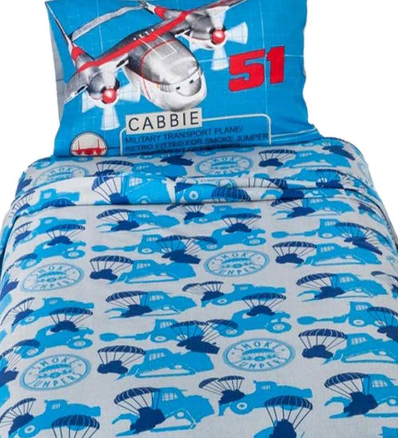 Disney Planes Fire & Rescue Twin Size Sheet Set Single Bed Cotton Rich Sheets