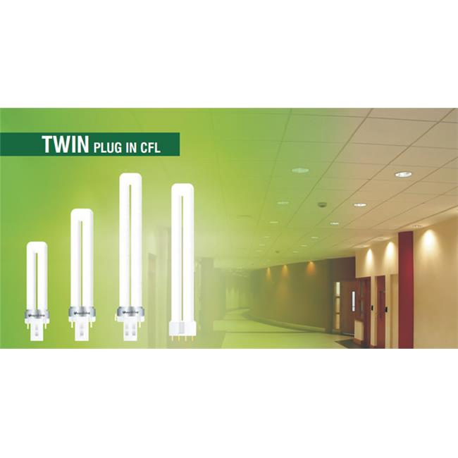 Overdrive 9W Twin Tube CFL -2700K, Pack Of 100