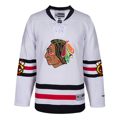 Chicago Blackhawks NHL Reebok White Official 2017 Winter Classic Team Premier Jersey For