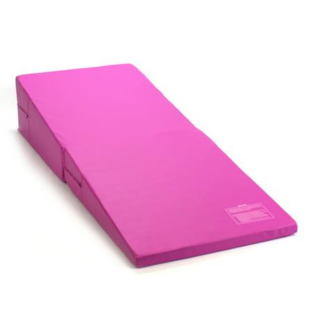 Pink Folding Incline Gymnastics Mat Training Foam Triangle