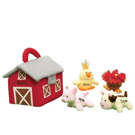 Farm Carrier Plush Barn And Animals Kids Toys