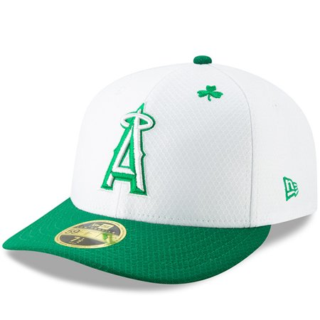 717d8f5d4e565f Los Angeles Angels New Era 2019 St. Patrick s Day On-Field Low Profile 59FIFTY  Fitted Hat - White Kelly Green