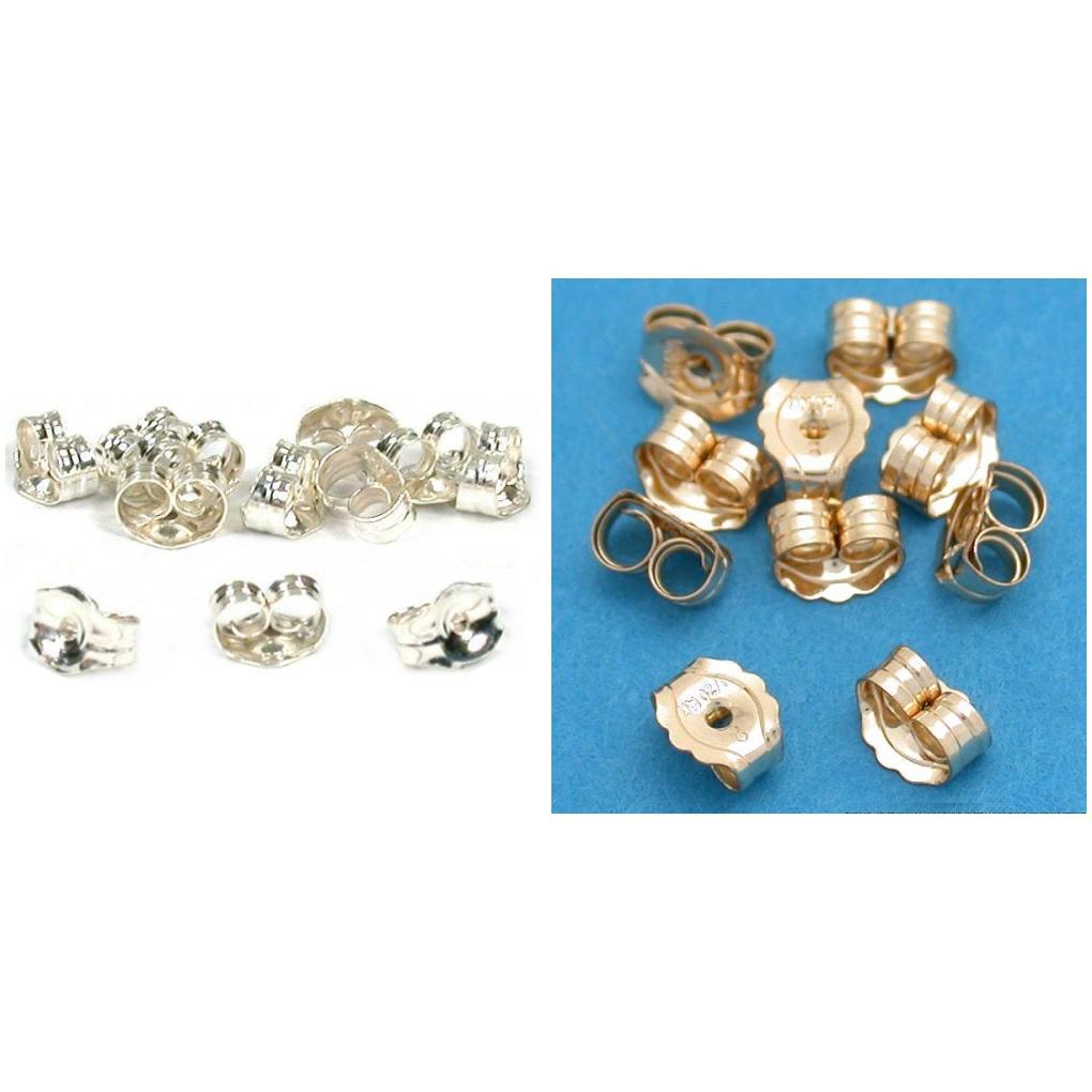 Sterling Silver & Gold Filled Earring Back Jewelry Findings Kit 24 Pcs
