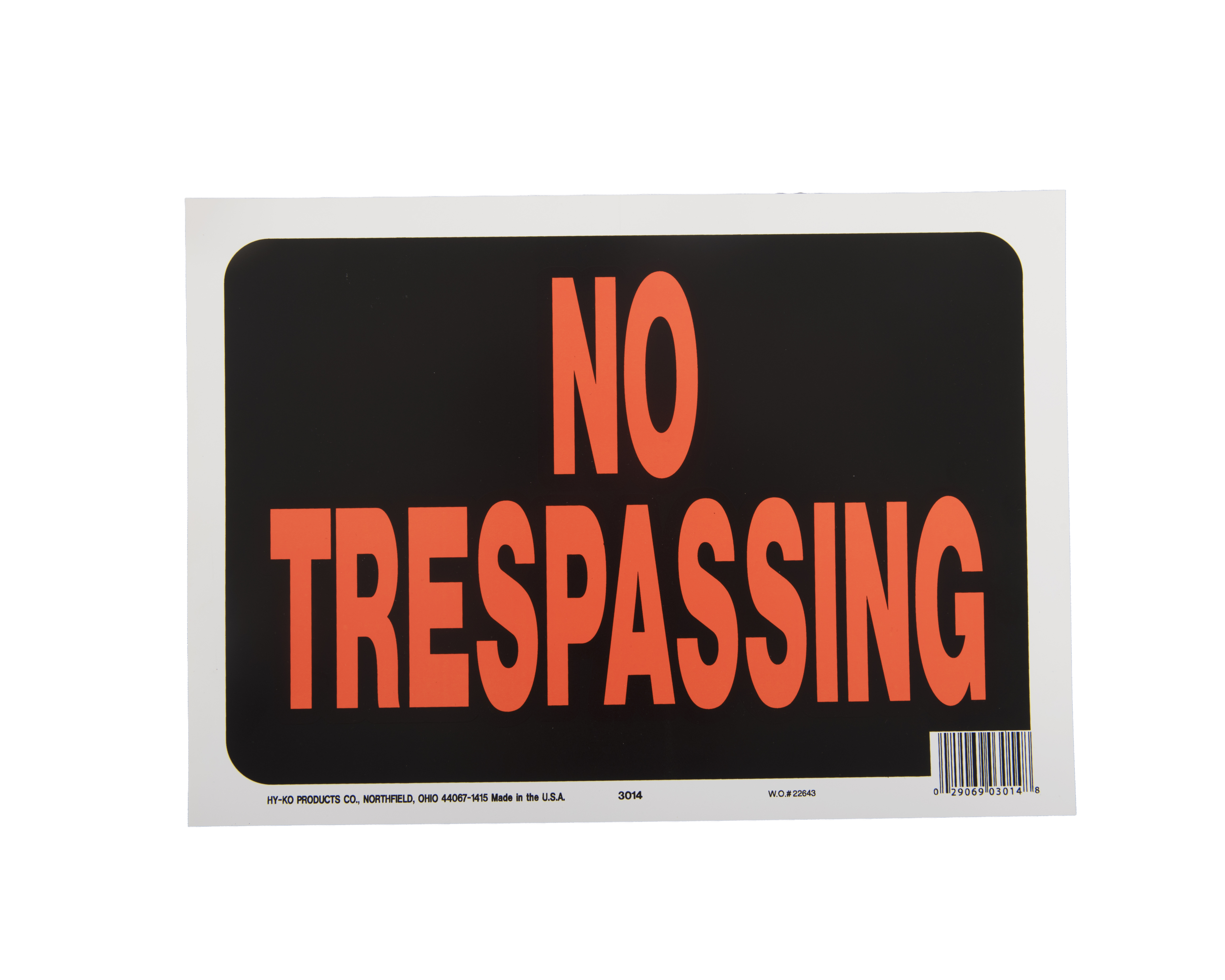 Hy-Ko No Trespassing Sign Kit, 9 inch x 12 inch by Hy-Ko