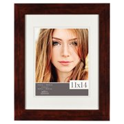 Gallery Solutions 11x14 Matted to 8x10 Flat Walnut Picture Frame