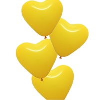50pcs, The Elixir Party Latex Heart Balloons for Party, Birthday Kids Party, Propose, Anniversary, Helium Quality, Yellow