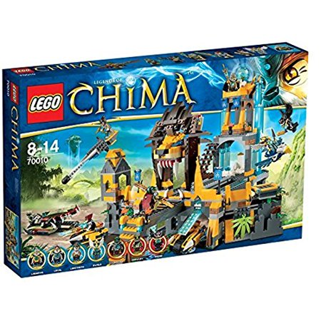 Logo Temple Metal - LEGO® Legends of CHIMA® The Lion CHI Temple w/ Minifigures & Accessories | 70010
