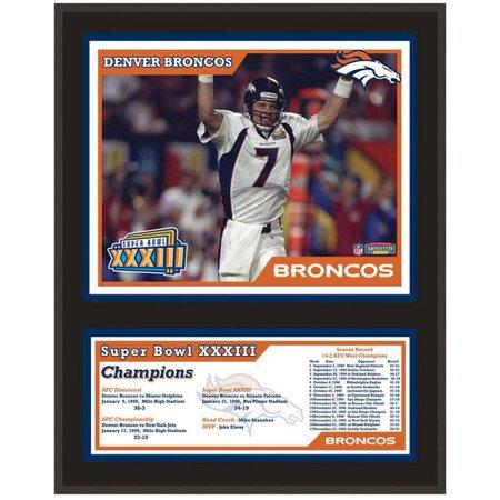 Denver Broncos Super Bowl XXXIII Sublimated 12x15 Plaque - Broncos Birthday