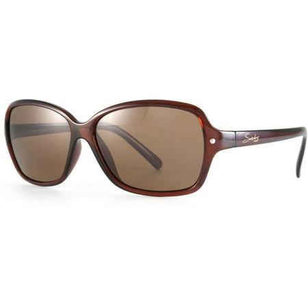 Sundog LUCY Polarized Sunglasses Brown Frame Brown Lens (Sundog Mens Sunglasses)