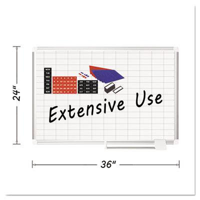 Plus Magnetic Total Erase Porcelain - MasterVision Grid Platinum Plus Magnetic Porcelain Dry Erase Board