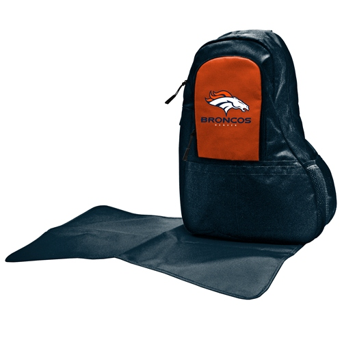 NFL Diaper Bag by Lil Fan, Sling Style - Denver Broncos