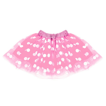 Cruise Director Halloween Costume (SeasonsTrading Pink & White Polka Dot Tulle Tutu Lined Skirt - Girls Minnie Princess Costume, Birthday Party, Cosplay, Cruise, Dance Dress)