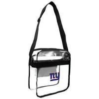 Little Earth - NFL Clear Carryall Cross Body Bag, New York Giants