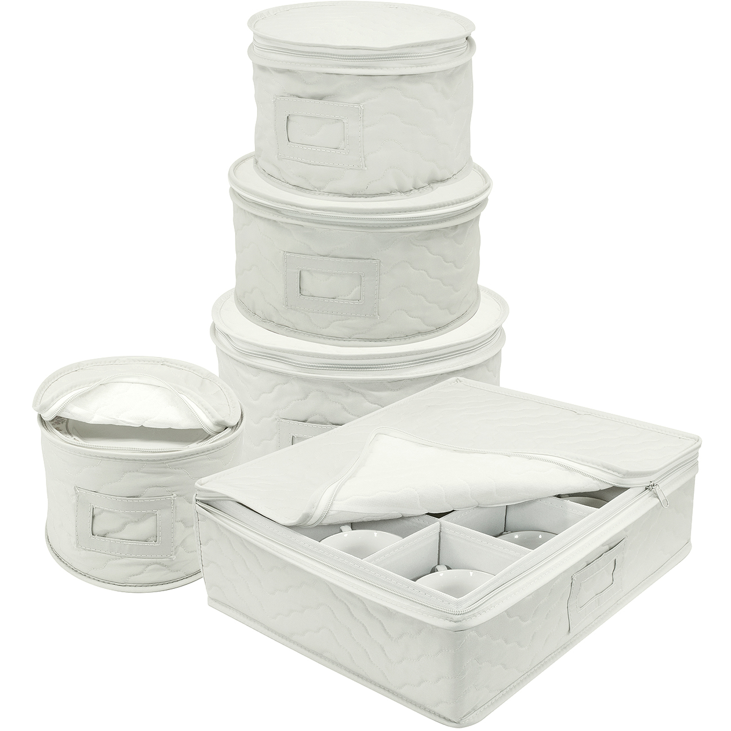 Sorbus 5-Piece Dinnerware Storage Set, Service for 12, Quilted Protection, Includes Felt Protectors and... by Sorbus