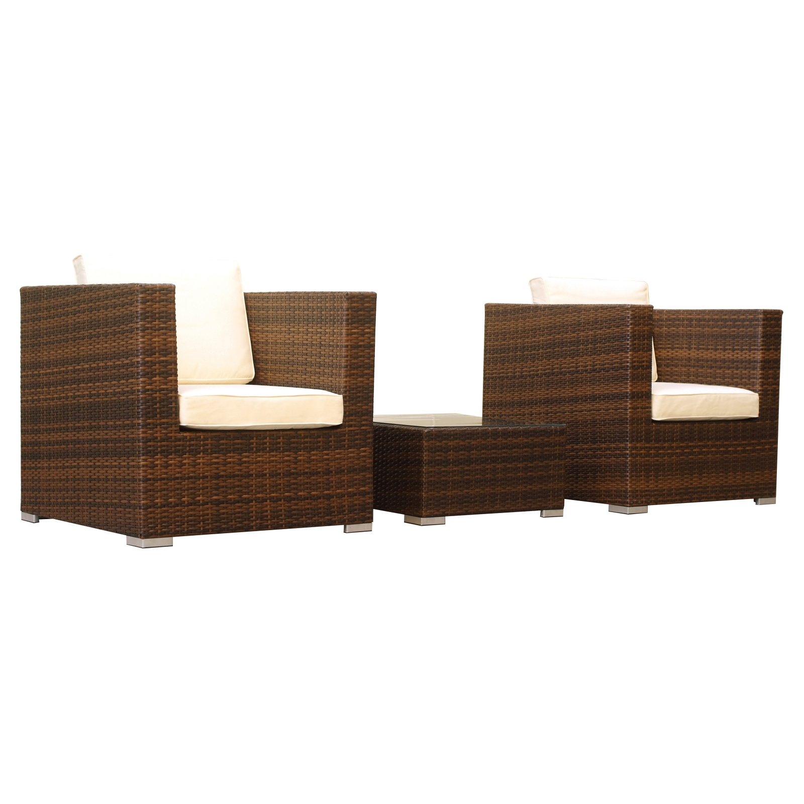 Manhattan Comfort Margate 3 Piece Wicker Patio ...