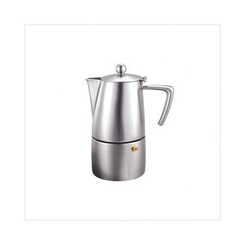 Bundle-32 Cuisinox Milano 10 Cup Espresso Coffeemaker in Satin with Replacement Parts (3 Pieces)