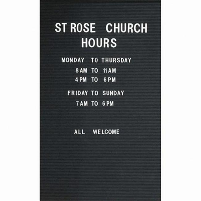 Aarco Products RR4830V Removable Vinyl Letter Board