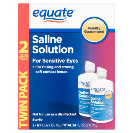 equate Solution Saline Twin Pack 2 x 12 fl oz (24 fl oz)