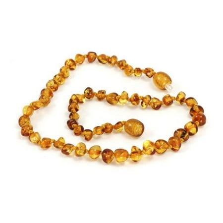 Momma Goose Baltic Amber Teething Necklace - Honey (Medium)