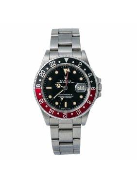 Pre-Owned Rolex Gmt Master Ii 16760 Steel  Watch (Certified Authentic & Warranty)