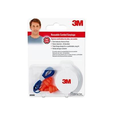3M Corded Reusable Ear Plugs, 4Pack