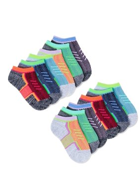 Athletic Works Girls' Socks, 12 Pack No Show Mesh Top (Little Girls & Big Girls)